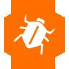 bed bug icon on orange background